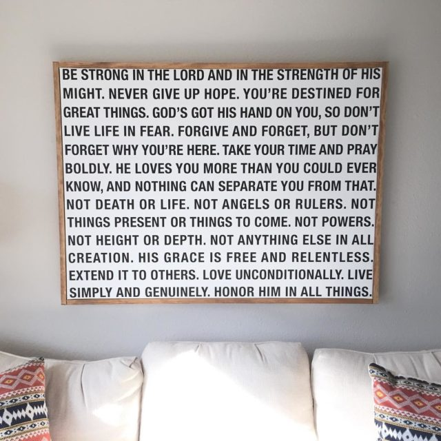 Always a sweet reminder that hangs over our couch Tohellip